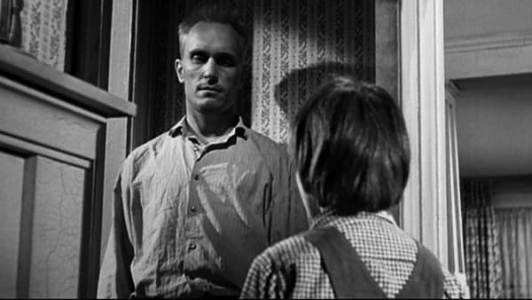 Boo Radley and Scout in the To Kill a Mockingbird film
