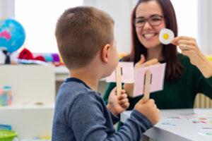 Children,Speech,Therapy,Concept.,Preschooler,Practicing,Correct,Pronunciation,With,A